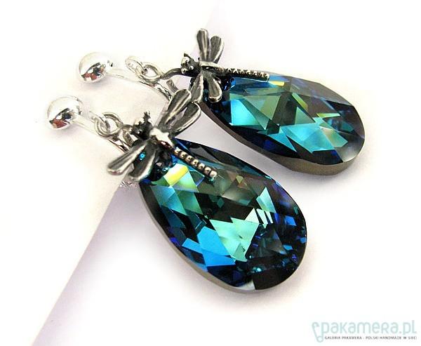 Klipsy z kryształami Swarovskiego - Bariloche