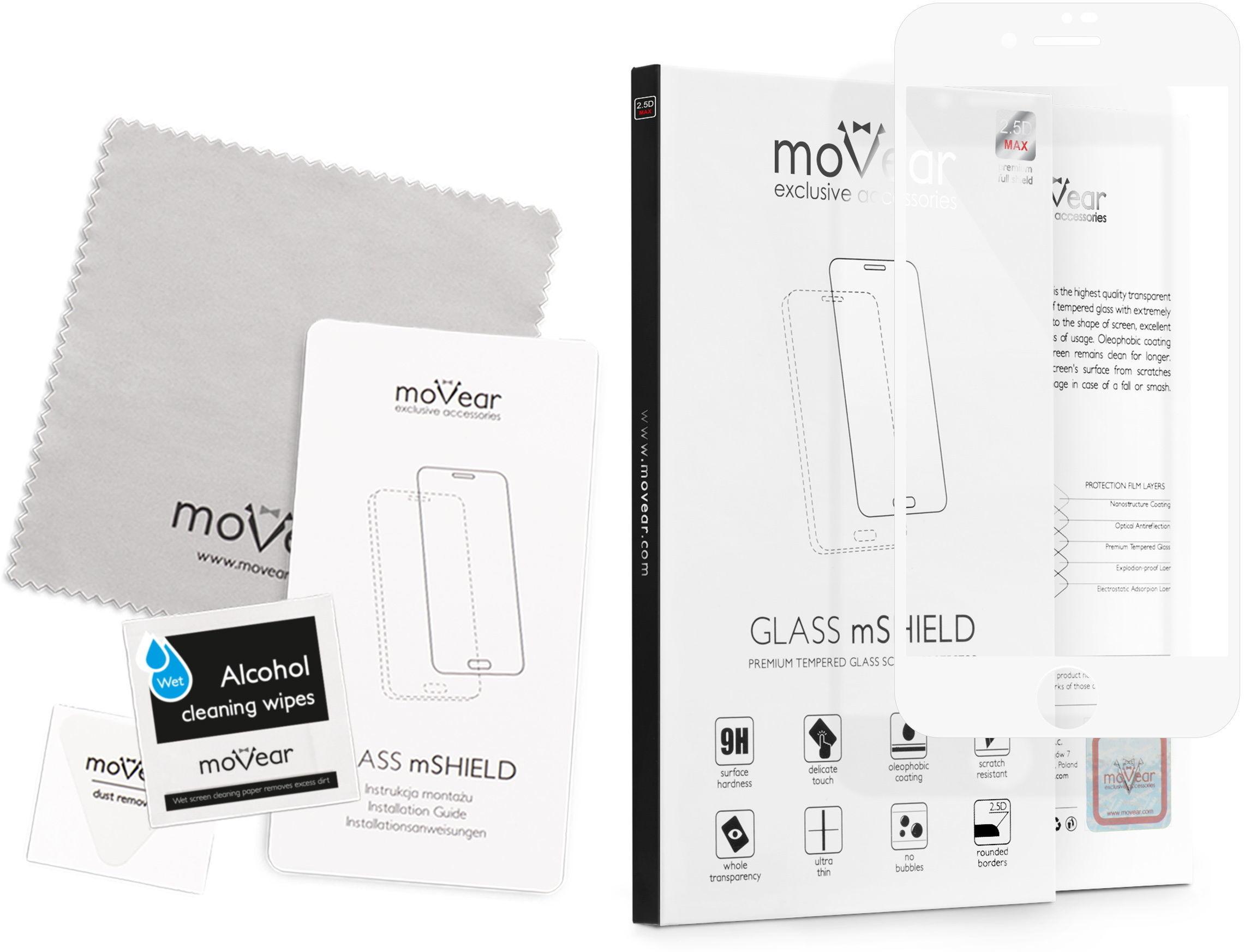 movear Szkło Hartowane 2.5D MAX na iPhone 8 plus / 7 plus Pyłoszczelne Full Glue Cały Ekran AI87PGMM03AWH