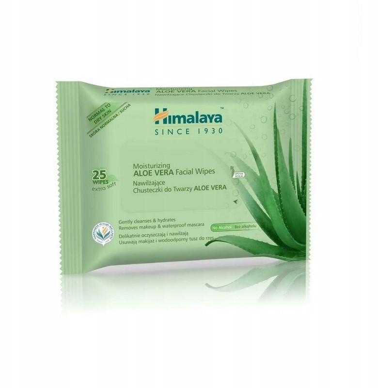Himalaya Chusteczki Oczyszczające Aloe Vera 25 szt