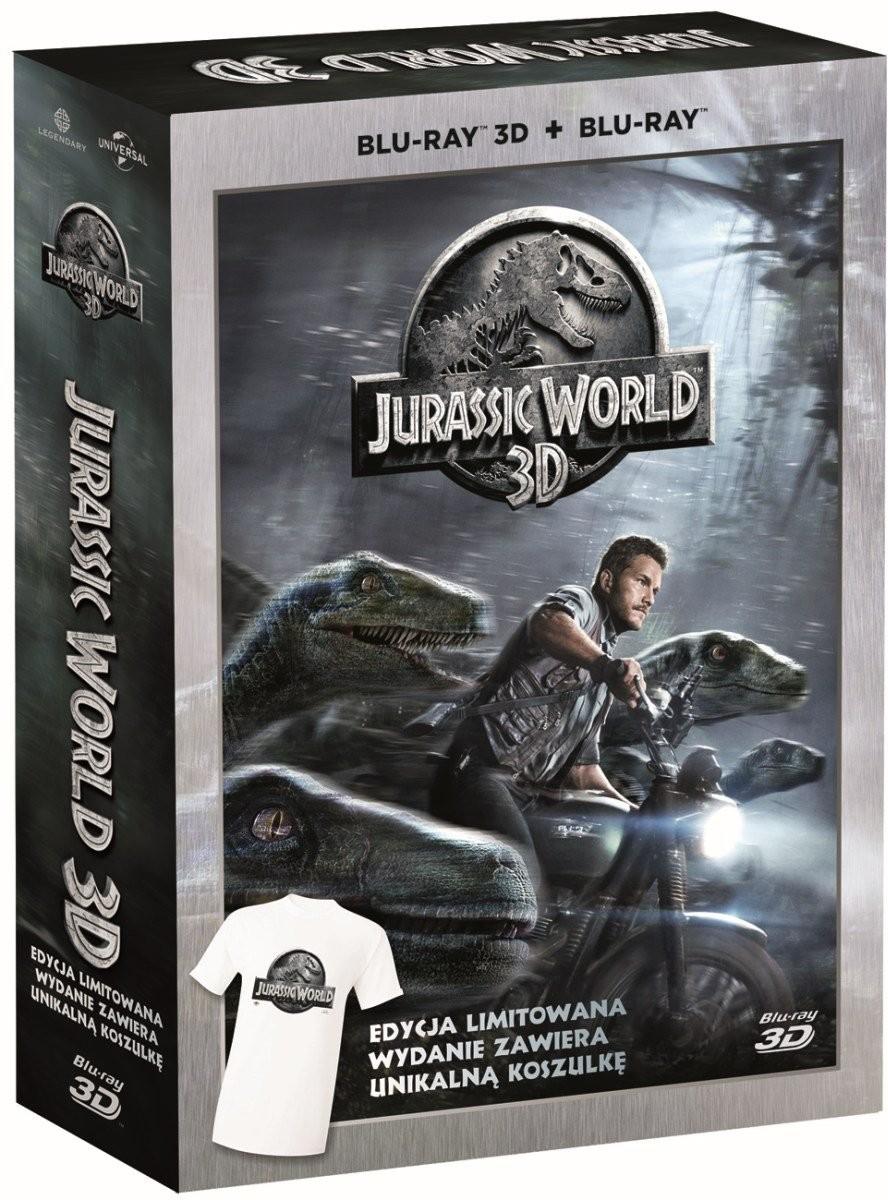 Jurassic World 3D + 2D + koszulka w rozm. L