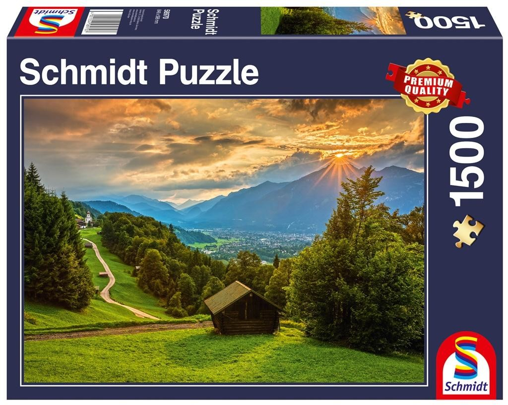 Schmidt Puzzle PQ 1000 Zachód słońca nad Wambergiem G3 -