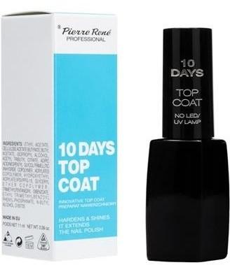 Pierre Rene 10 Days Top Coat preparat nawierzchniowy przedłużający trwałość manicure 11ml 59414-uniw