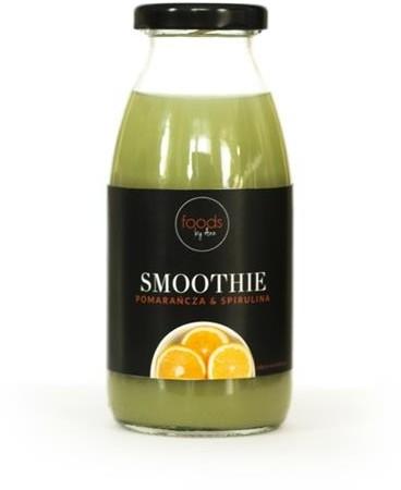 Foods by Ann Smoothie w butelce Pomarańcza & Spirulina 250ml