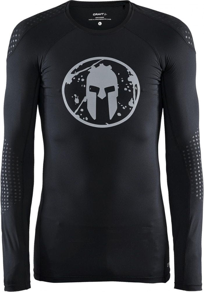 Craft koszulka kompresyjna męska Spartan LS Compression Black XL