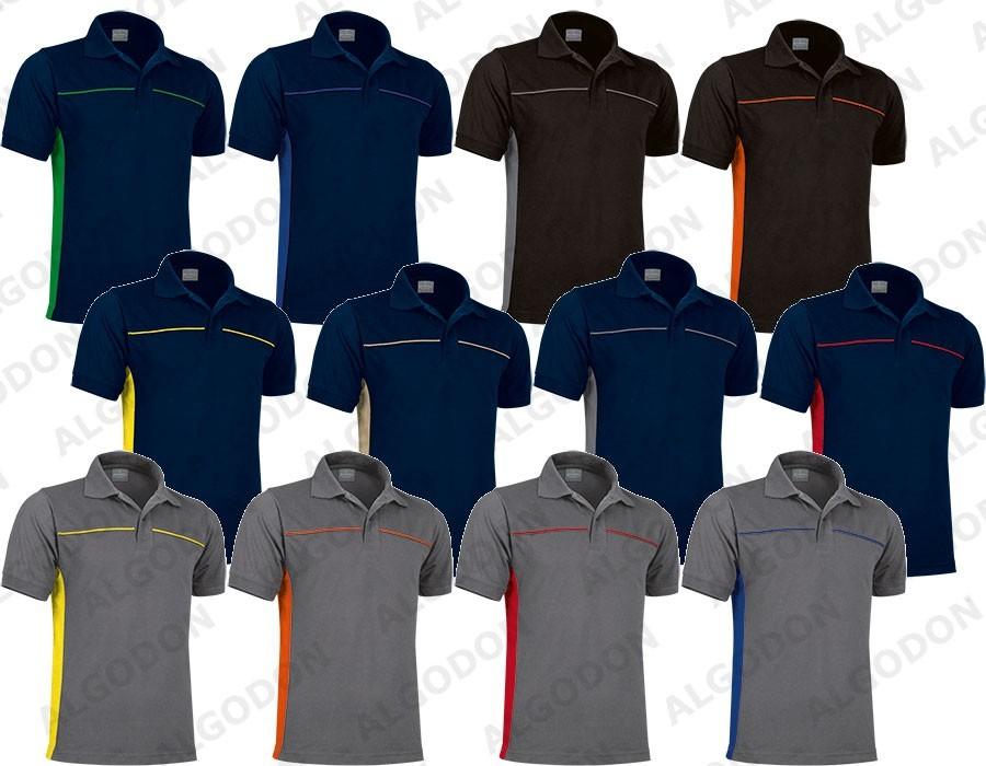 VALENTO Koszulka POLO dwukolorowa krótki rękaw Polo