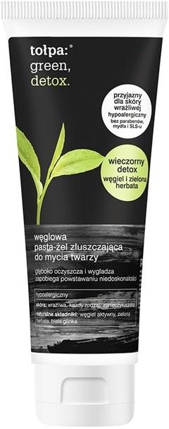 Tołpa Green Detox Węglowa pasta-żel złuszczająca do mycia twarzy 125ml 39975-uniw