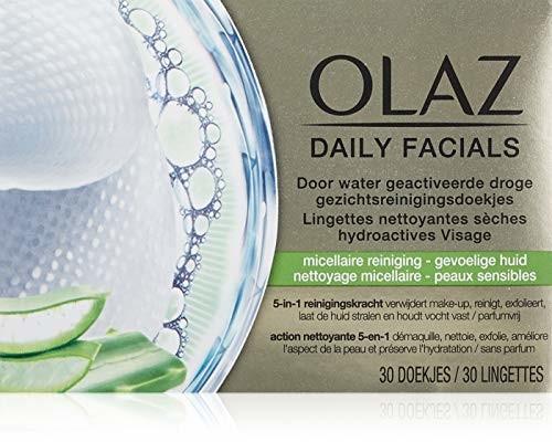 Olaz chemiczne chusteczki do czyszczenia, do skóry wrażliwej, do czyszczenia mikrelaru, 100 g