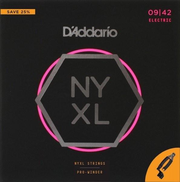 DAddario NYXL0942 struny do gitary elektrycznej 09-42 + korbka