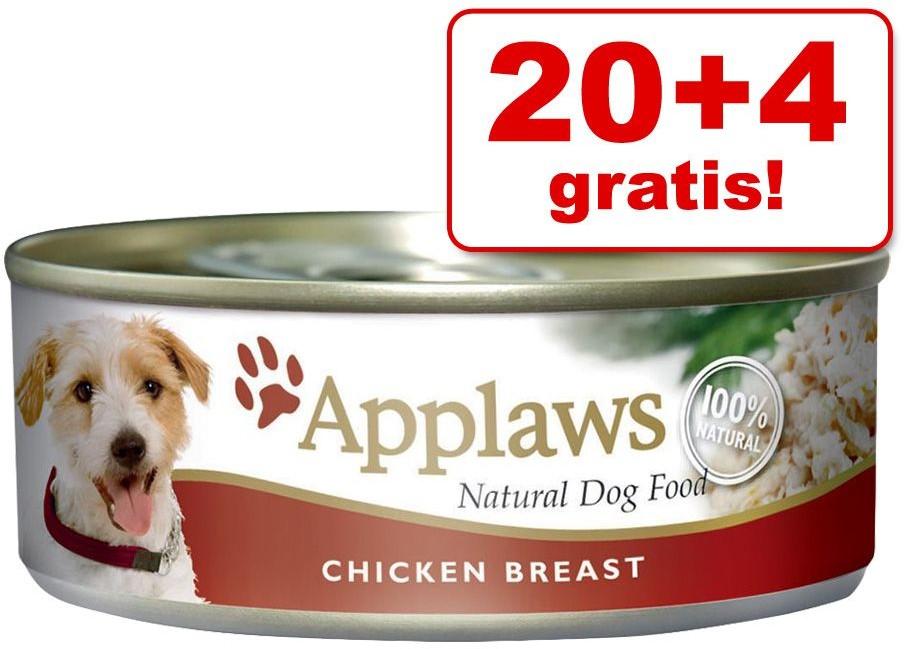 Applaws 20 + 4 gratis! w bulionie 24 x 156 g Kurczak z warzywami