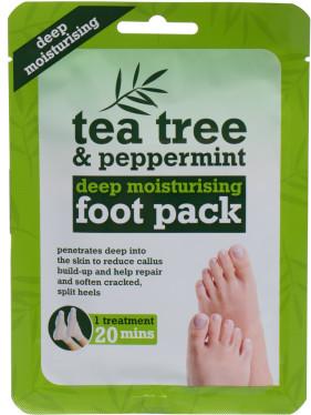 Xpel Xpel Tea Tree Tea Tree & Peppermint Deep Moisturising Foot Pack krem do stóp 1 szt dla kobiet 68889