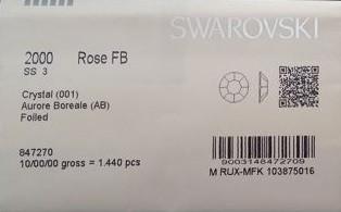 Swarovski Cyrkonie SS3AB 1440 sztuk 2