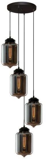Altavola Design LAMPA wisząca LONDON LOFT LA011/CO4_clear_smoky szklana OPRAWA zwis kaskada loft przezroczysta przydymiona LA011/CO4_clear_smoky