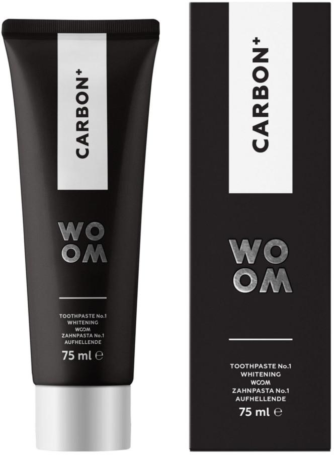 WOOM WOOM CARBON + - czarna pasta wybielająca zęby z aktywnym węglem 75ml