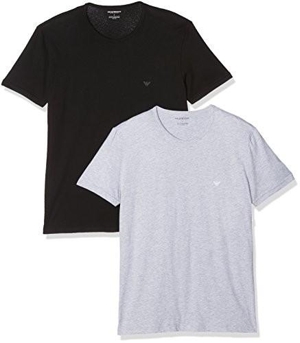 6c0a357d6f04 Emporio Armani męskie 2 Pack okrągłe wycięcie pod szyją T-shirty 111647  cc722 Vorteilspack -