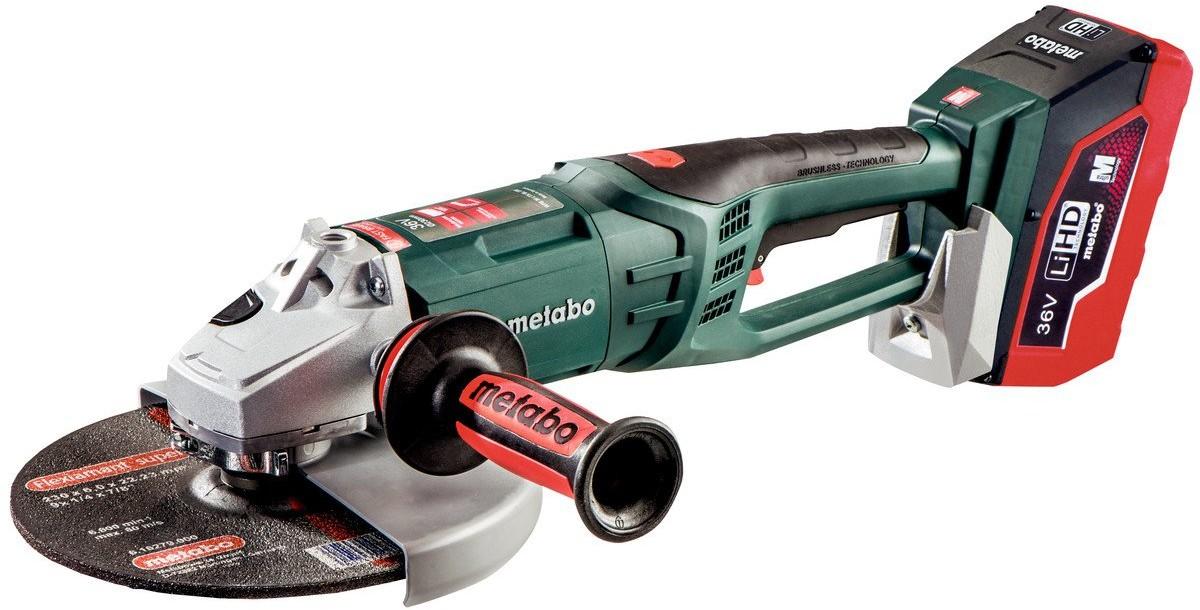 Metabo Akumulatorowa szlifierka kątowa WPB 36 LTX BL 230 Quick w walizce PVC 613101660