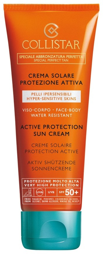 Collistar Speciale Abbronzatura Perfetta Active Protection Sun Cream SPF 50+ krem do opalania przeciw starzeniu 100ml