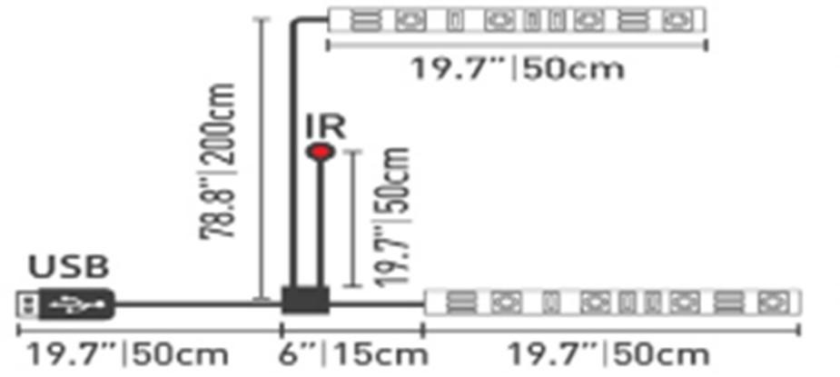 Milagro Taśma LED USB TV RGB 2X50CM EKZ0613 Milagro