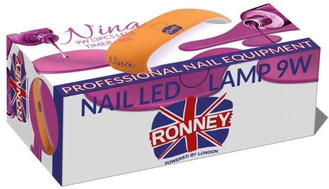 ronney RONNEY NINA Profesjonalna lampa do paznocki LED 9W (GY-LED-018) - CZERWONA