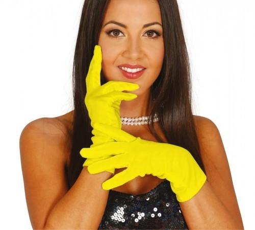GUIRCA Rękawiczki krótkie, żółte REKA/4258-G