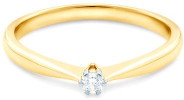 SAVICKI Pierścionek zaręczynowy złoty, diament RA3971