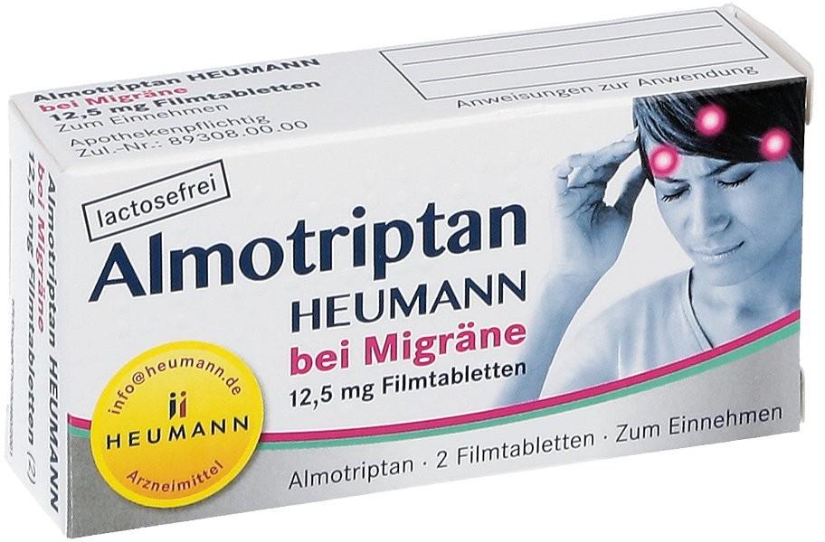 HEUMANN PHARMA GmbH & Co. Gene Almotriptan Heumann bei Migräne 12,5 mg Filmtabletten 2 szt.