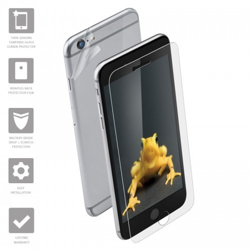 Wrapsol Hybrid - Hartowane szkło ochronne 9H + folia na obudowę do iPhone 6s Plus / iPhone 6 Plus