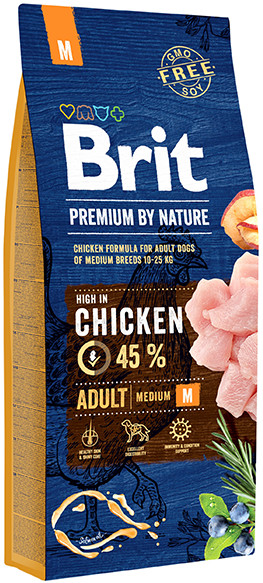 Brit Premium by Nature Adult Medium M 15 kg