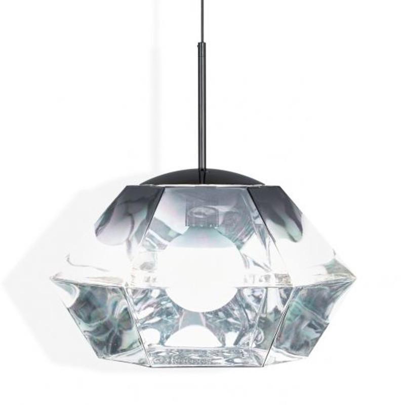 Tom Dixon Cut Short Chrome przezroczysty lampa wisząca CUSP01CHEU