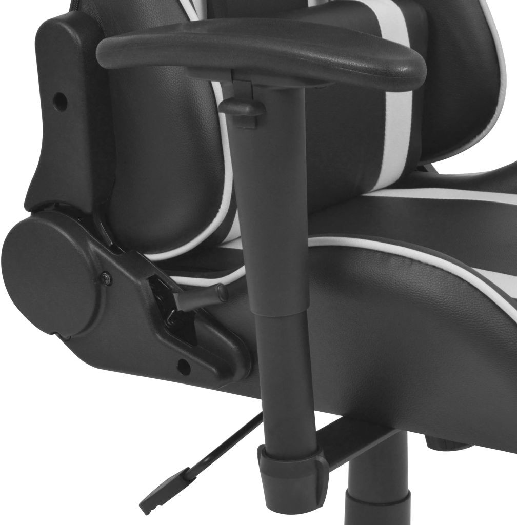 vidaXL Rozkładane krzesło biurowe, sportowe, sztuczna skóra, białe vidaXL