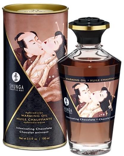 Shunga Olejek do masażu - Aphrodisiac Warming Oil Chocolate 100 ml