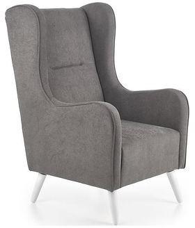 Halmar Fotel CHESTER Szary ciemny tapicerowany V-PL-CHESTER-FOT-C.POPIEL