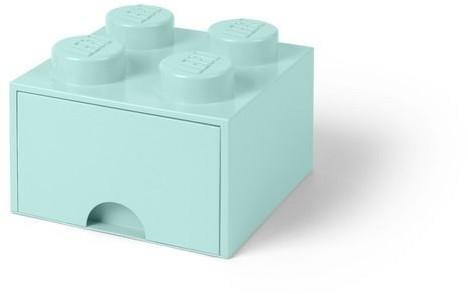 Lego POJEMNIK NA KLOCKI ZABAWKI I INNE KLOCEK 4 WYPUSTKI Z SZUFLADKĄ MORSKI 4005