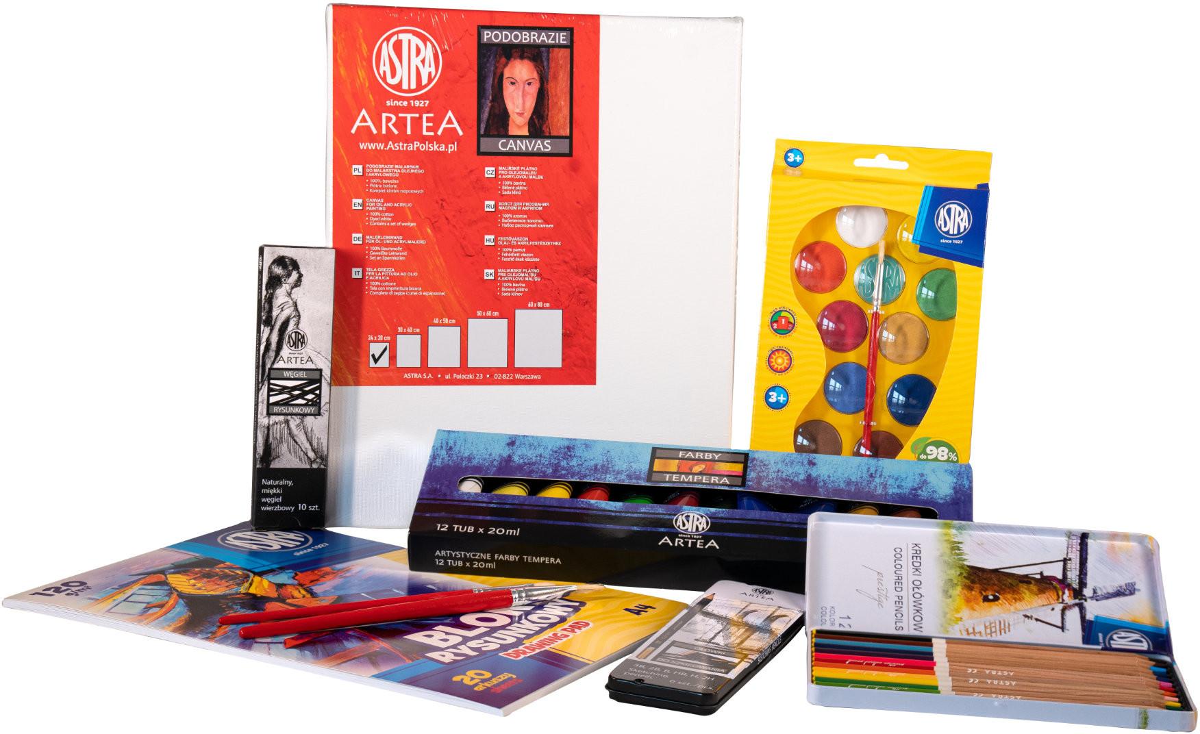 Astra Zestaw szkolny plastyczny Artystyczne Horyzonty 601120005
