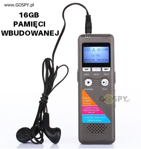 gospy.pl Dyktafon cyfrowy Q6 16GB G-10474911