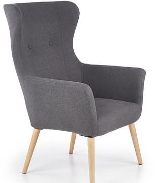 Halmar Fotel COTTO Szary ciemny tapicerowany V-CH-COTTO-FOT-C.POPIEL