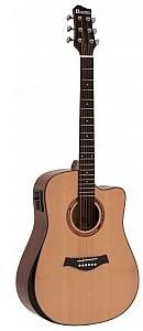 Dimavery ASW-60 Gitara akustyczna mini Jumbo / Grande z Pickup - kolor naturalny 26245051