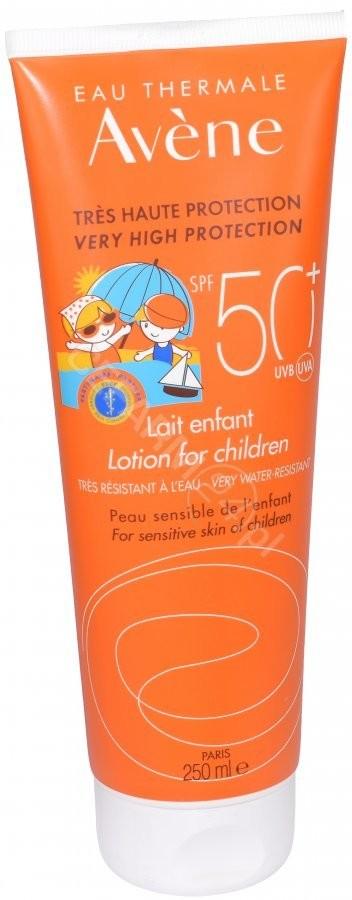 Avene mleczko dla dzieci z bardzo wysoką ochroną przeciwsłoneczną spf 50+ 250 ml