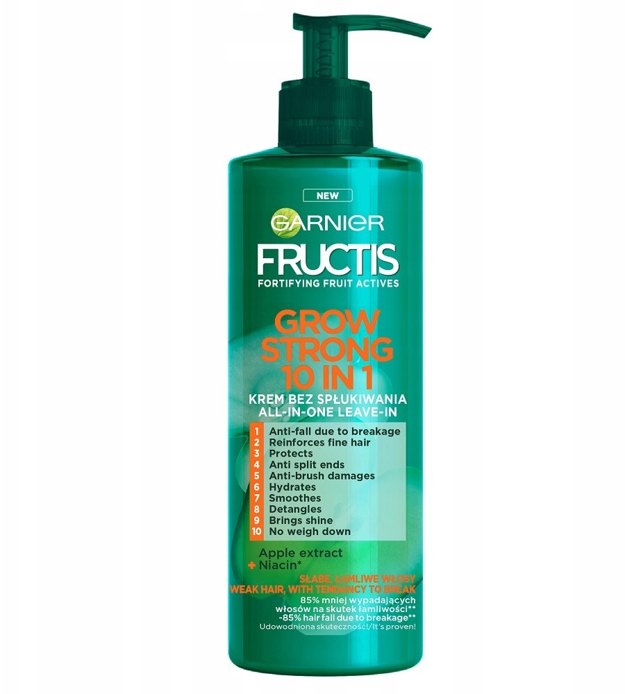 Garnier Fructis Grow Strong 10in1 krem do włosów 400ml