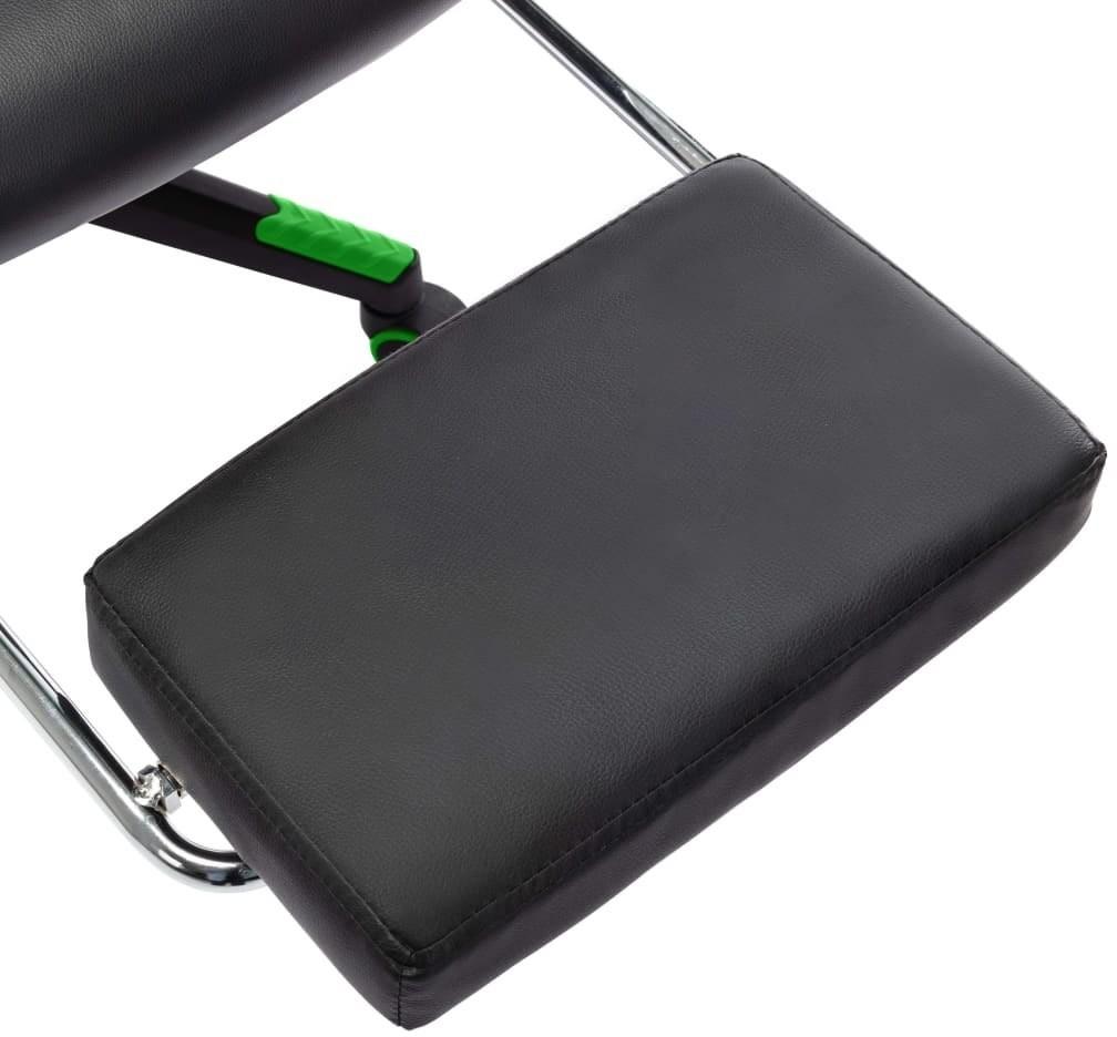 vidaXL Lumarko Fotel dla gracza z podnóżkiem, czarno-zielony, sztuczna skóra 20513