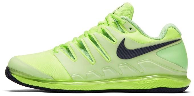 Nike Męskie buty do gry w tenisa na kortach ziemnych NikeCourt Air Zoom Vapor X - Zieleń AA8021-302