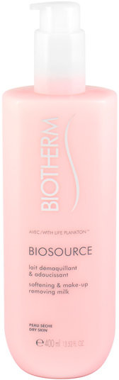 Biotherm Biosource, oczyszczające mleczko do twarzy do cery suchej, 400 ml
