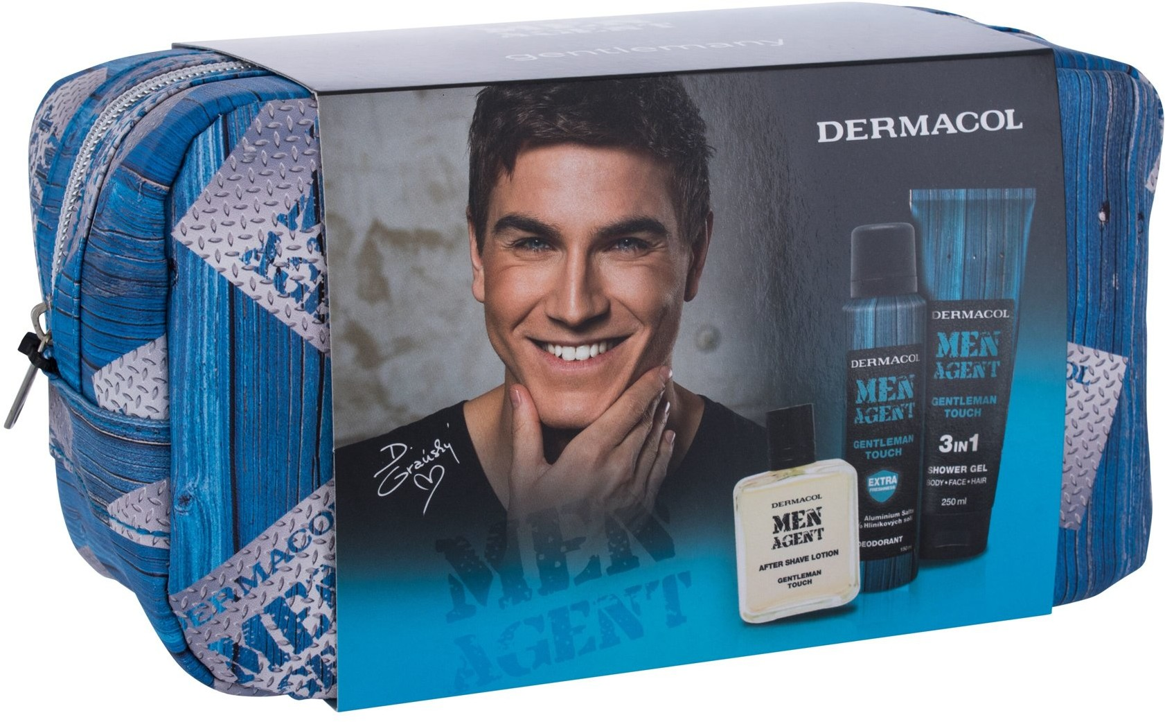 Dermacol Men Agent 3in1 Gentleman Touch 250 ml Żel pod prysznic
