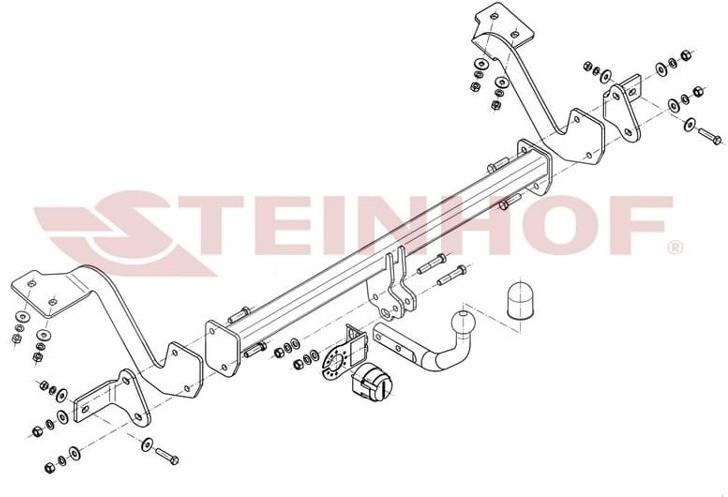 Steinhof Hak holowniczy Steinhof C-023 Citroen Berlingo II 2011 - 2018 572-uniw