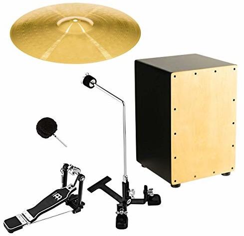 Meinl Percussion Percussion Cymbal Mount Set + Crash & Cajon - zawiera PM-2/TMBP/CPB5/HCS16C/MCAJ100BK-MA (MCMS3) MCMS3
