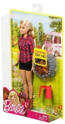 Mattel Barbie, lalka na biwaku blondynka FDB43/FDB44