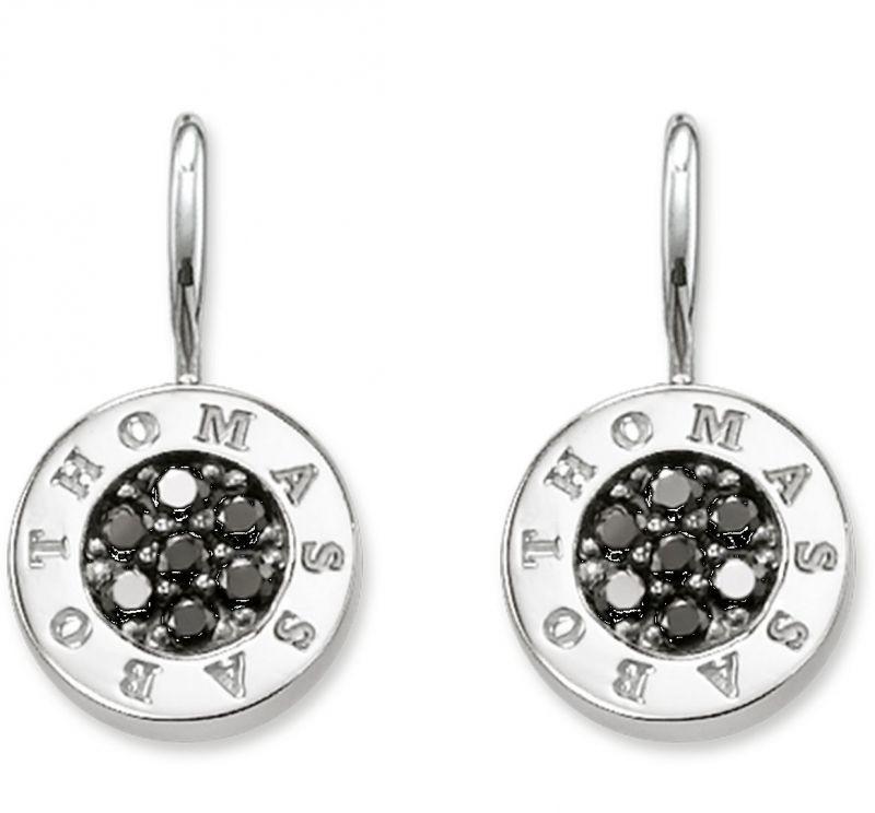 Thomas Sabo h1862kolczyki czarna srebrna cyrkonia H1862-643-11