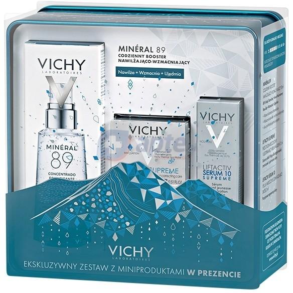 Vichy Mineral 89 codzienny booster nawilżająco-wzmacniający 50ml ZESTAW LIFTACTIV W PUSZCE Mineral 89 codzienny booster nawilżająco-wzmacniający 50ml ZESTAW LIFTACTIV W PUSZCE