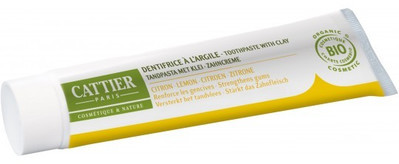 Cattier Pasta do zębów z glinką i olejkiem cytrynowym remineralizująca EKO 75 ml -