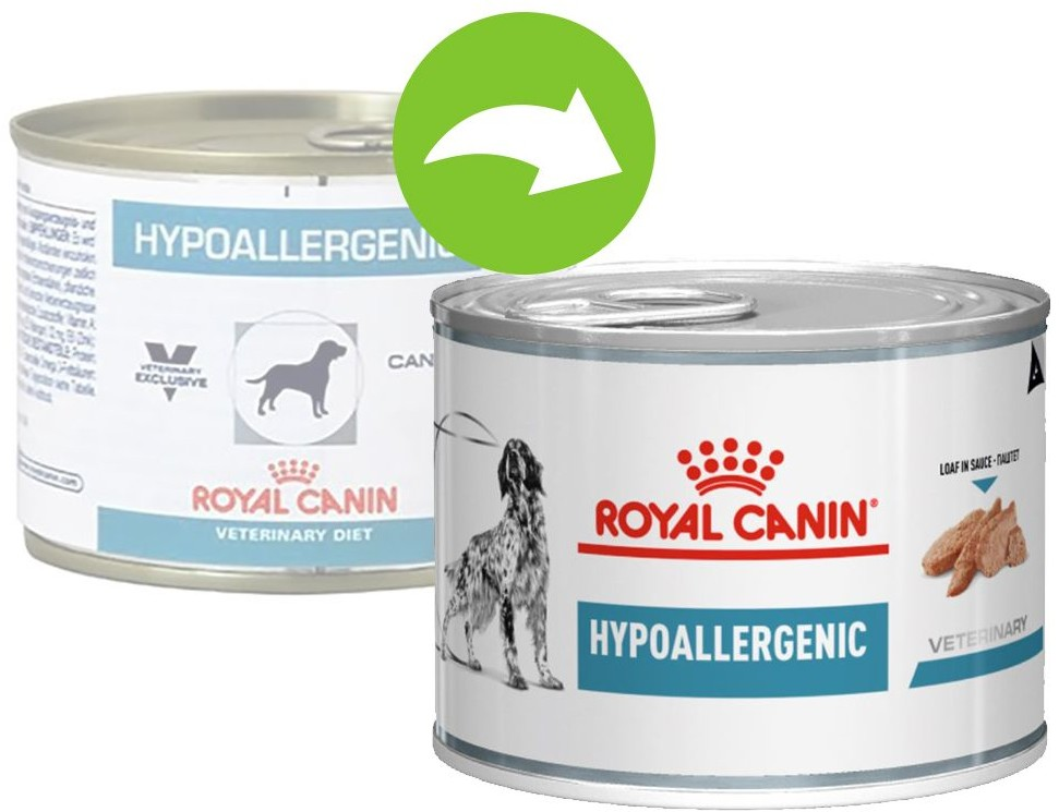 Royal Canin Veterinary Diet Hypoallergenic w Puszkach - 12 x 200g