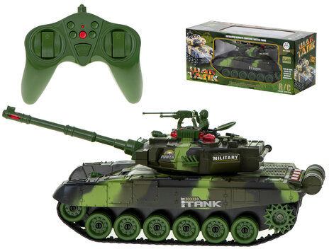 BIG Czołg RC War Tank 9995 duży 2.4 GHz zielony KX8714_1